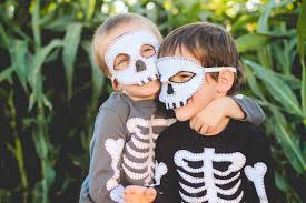 skeleton halloween costumes for kids finley and oliver diy skeleton costume