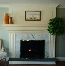 marble fireplace tile carrara ideas white wall surrounds molding