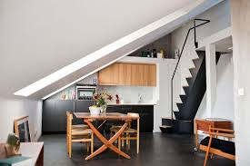 Interior Stairs Design In Duplex Apartments 57 Square Meter Duplex With Slanting White Walls In Stockholm