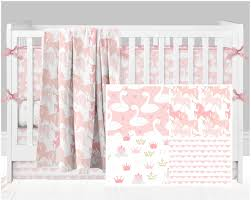 Gold Crib Bedding by Princess Crib Bedding Swan Nursery Unicorn Baby