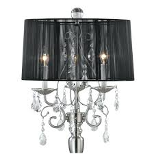 Chandelier Lamp Shades With Crystals Floor Lamps Chrome Crystal Floor Lamp Shade Black Shade Crystal