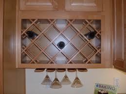 kitchen cabinet wine rack ideas beige wooden kitchen cabinet integrated with crossed wine rack