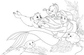 mermaid coloring pages ariel eric disney princess