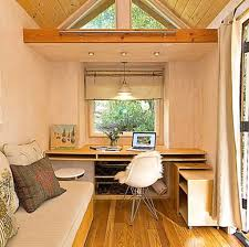 tiny house design with perfect study room for teens with wooden