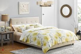 Tufted Platform Bed Grace Tan Linen Tufted Platform Bed True Contemporary