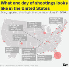 chicago map shootings the orlando was one of 43 shootings on sunday vox