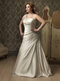 plus size wedding dress designers line princess one shoulder ivory satin ruched plus size designer