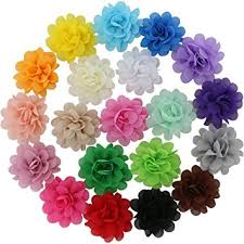 baby flowers qinghan 20 colors baby girl chiffon flowers lined