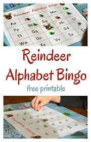 printable alphabet recognition games reindeer abc bingo alphabet bingo alphabet games and literacy