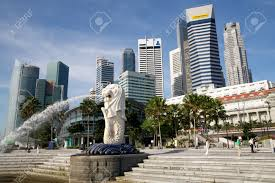 singapore lion singapore business center city and lion singapore stock