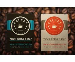 modern clean design for flyer or leaflet ideal for coffee house