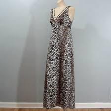 Vanity Fair Nightwear 60s 70s Vanity Fair Long Leopard Print Nightgown Small Medium