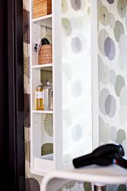 stand up l with shelves create a stand up vanity in your bedroom with the brimnes storage