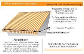 Window Awnings Fabric Retractable Drop Arm Window Awning Fabric Pyc Awnings Pyc Awnings