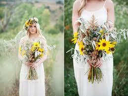 sunflower wedding desert inspired sunflower wedding featured on