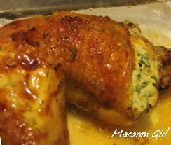 cuisiner poulet entier poulet farci à la ricotta et aux herbes fraîches pas compliqué du