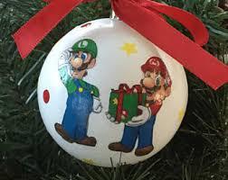mario ornament etsy