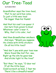 poem our tree toad by evaleen stein