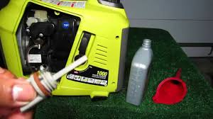 ryobi 1000 watt inverter generator ryi1000 oil change after 20