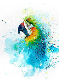 splashed watercolor paintings by tilen ti colorful animals