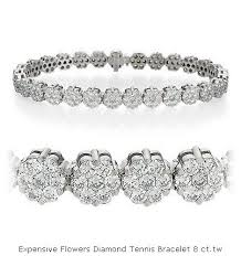 diamond flower bracelet images Expensive flowers diamond tennis bracelet 8 ct tw buy diamond jpg