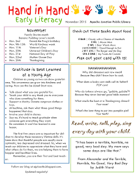thanksgiving newsletter welcome to the castle hand in hand early literacy newsletter