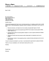 chemical engineering entry level cover letter samples vault com