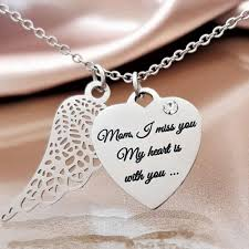 you necklace images Miss you mom angel wing necklace linda 39 s stars jpg