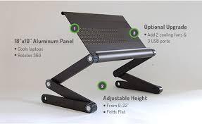 Lap Desk With Fan Workez Executive Folding Aluminum Ergonomic Laptop Stand Lap
