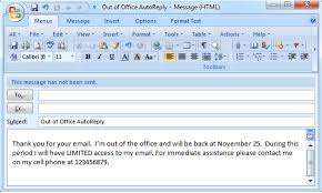 how to set out of office auto reply sorry late reply