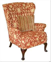 Patterned Armchair Design Ideas Photo Queen Anne Wingback Chair Design Ideas 23 In Davids Villa