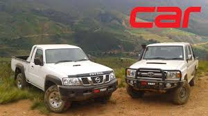 land cruiser pickup v8 toyota land cruiser vs nissan patrol review youtube