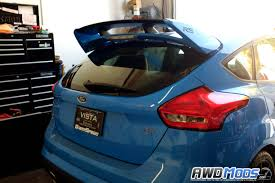 the ford agency ford focus rs st rear spoiler riser kit by agency power