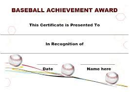 20 attention grabbing free printable baseball certificates