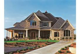 House Plans With Front Porch One Story French Country House Plan On One Story Country House Plans French