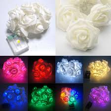 20 led battery operated rose flower bedroom fairy lights 1 9m warm