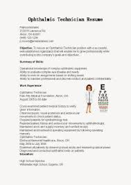 Medical Scribe Resume Example by Ophthalmic Technician Cover Letter