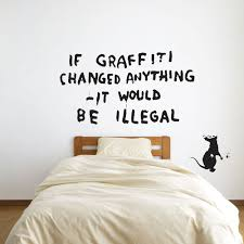 banksy rat graffiti writer vinyl wall art decal vinyl revolution