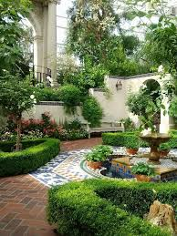 spanish courtyard designs tons of green and beauty in a yard without much grass catherine