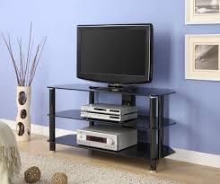 amazon com innovex concord tv stand 52 inch black kitchen u0026 dining