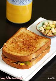 Toasting Bread Without A Toaster Veg Sandwich Recipe Simple Easy Vegetable Sandwich Recipe On Tawa