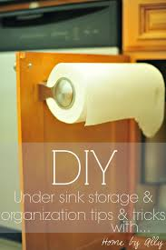 diy under sink tile and how to keep it clean u0026 organized home