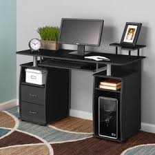 Desk With Computer Storage Executive Cpu Storage Desk Wayfair
