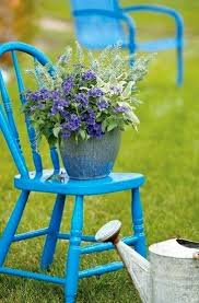 Vintage Wooden Chair Creative Green Ideas To Make Flower Stands Recycling Wood Chairs