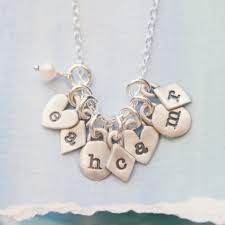 initials necklace silver about you initials necklace sterling silver