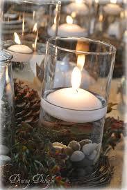 Cylinder Floating Candle Vase Set Of 3 Dining Delight Thanksgiving Tablescape With Cylinder Vase Centerpiece