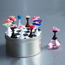 12 pcs chess board nail art tips display holder crystal magnetic