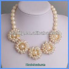 pearl necklace wholesale images Wholesale latest design flower shape imitation pearl necklace jpg