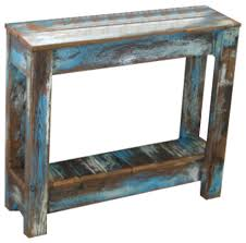 distressed white side table enthralling breck side table blue rustic tables and end by