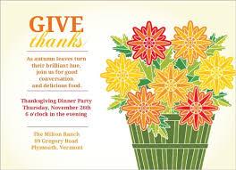 thanksgiving flowers greeting card thanksgiving invitations